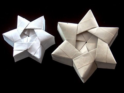 Papercraft How to make a Christmas Star Gift Box