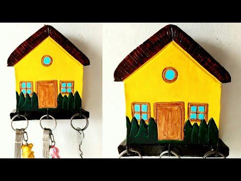 How to make house shape key holder