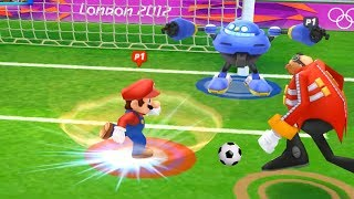 Mario and Sonic at the London 2012 Olympic Games #Football -Team Mario vs Team Metal sonic