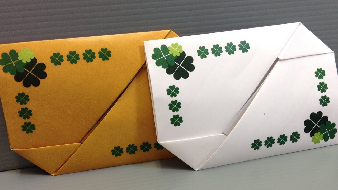 Origami St Patricks Gift Card Envelopes Print At Home