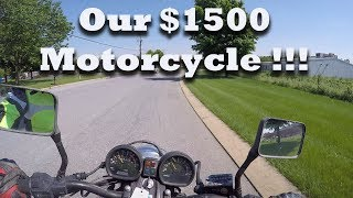 Test Driving our $1500 Motorcycle