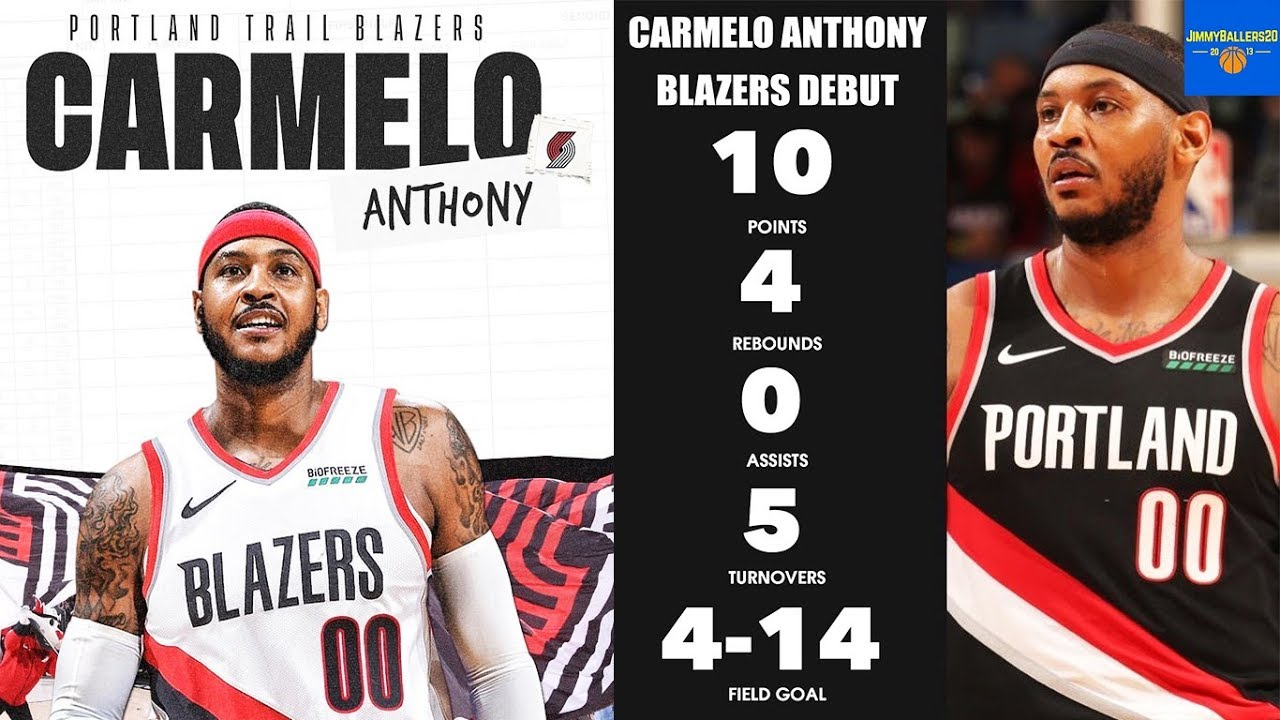 Trail Blazers, Carmelo hopeful after debut loss