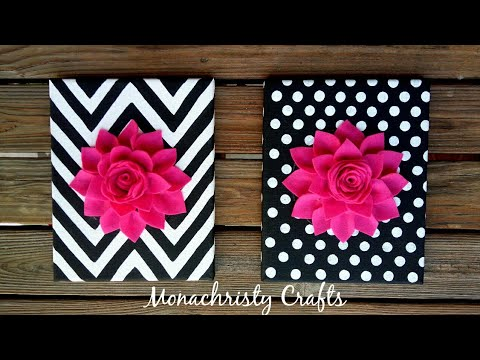 DIY 3D Flower Canvas Art | Easy Wall Decor
