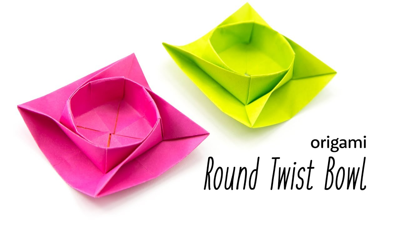 Origami Round Twist Box Bowl Tutorial Paper Kawaii