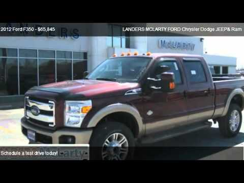 Landers Mclarty Ford >> 2012 Ford F350 Lariat 4X4 King Ranch - for sale in Bentonville, AR 72712 - YouTube