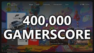 400,000 GAMERSCORE! Looking over my Gamercard & talking about games!
