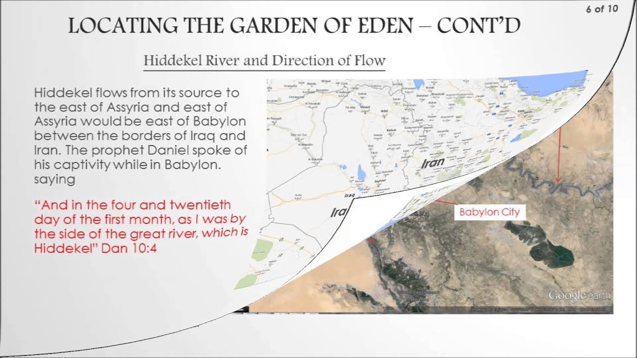 The garden of eden true location youtube River flowing from the garden of eden