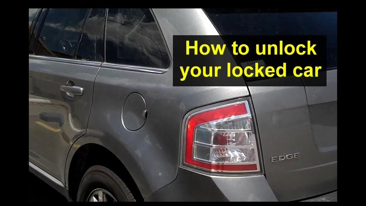 How To Get In Your Locked Car After Locking The Keys