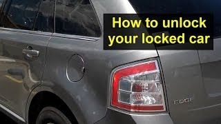 How to get in your locked car, after locking the keys inside - VOTD