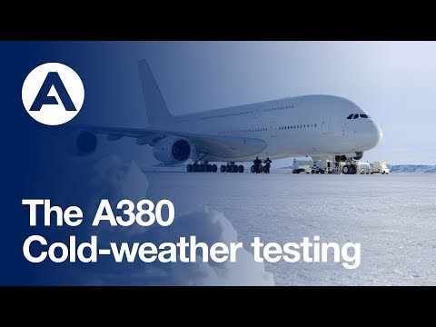 A380 cold-weather testing in Canada