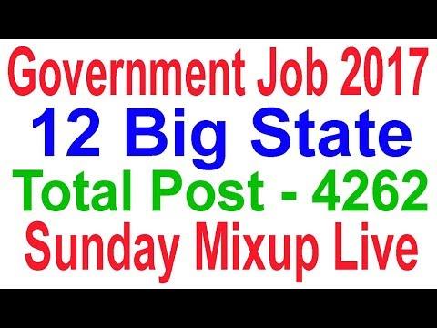 Government Job 2017 Total Post 4262 Big #Sunday Mix up