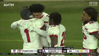 WILDEST ENDING IN ALABAMA STATE HISTORY: Thompson stuns Auburn in 7A state championship