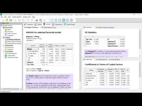 Doe Made Easy With Version 12 Of Design Expert Software Dx12 Youtube