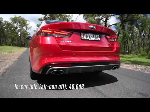 2016 Kia Optima GT turbo 0 100km h engine sound