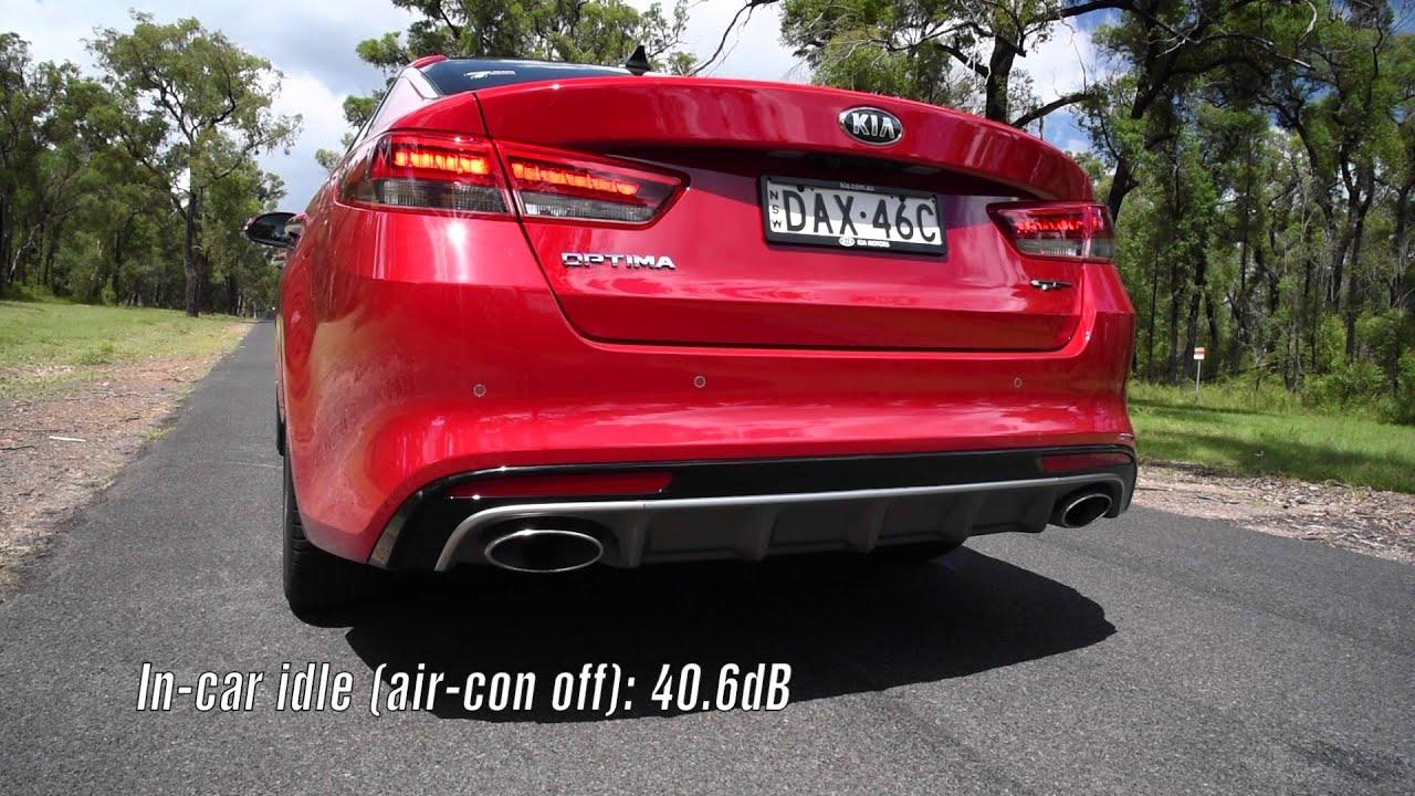 2016 Kia Optima GT turbo 0 100km h & engine sound