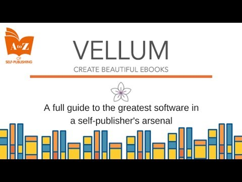 Tutorial on Vellum.pub Create perfect ebook and paperback files. Self-publishing.