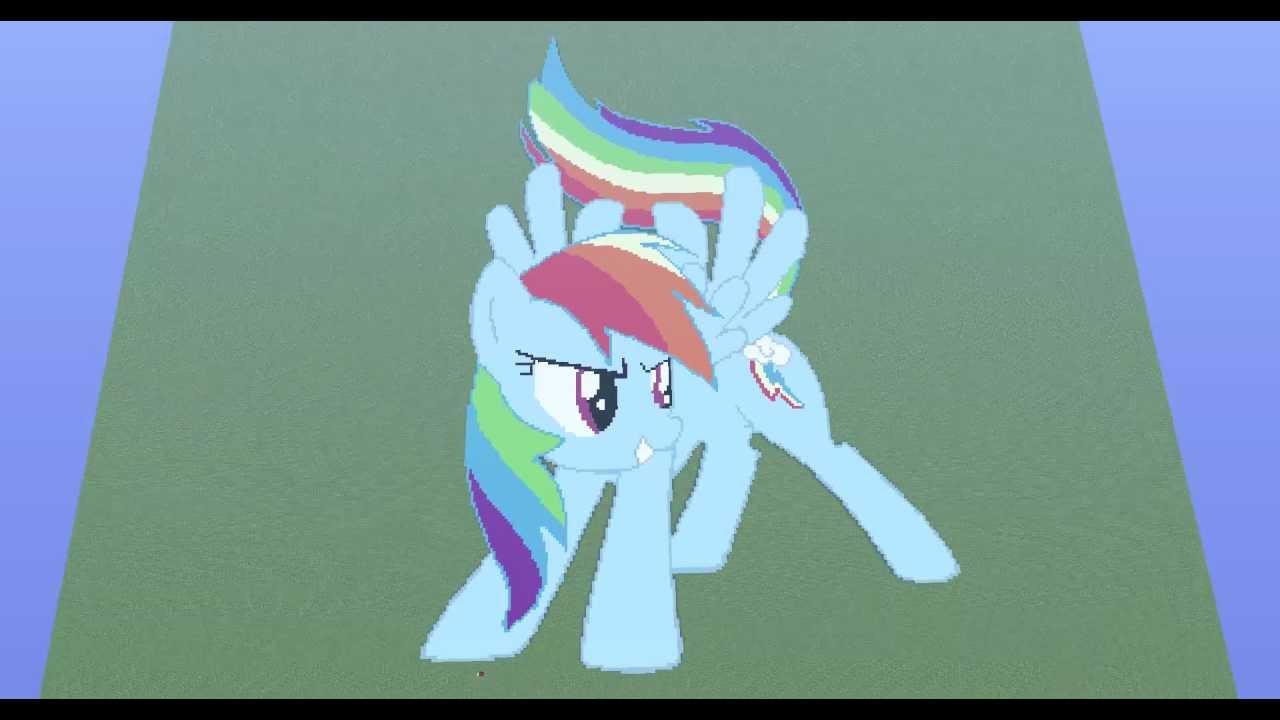 Minecraft Rainbow Dash Pixel Art With Download