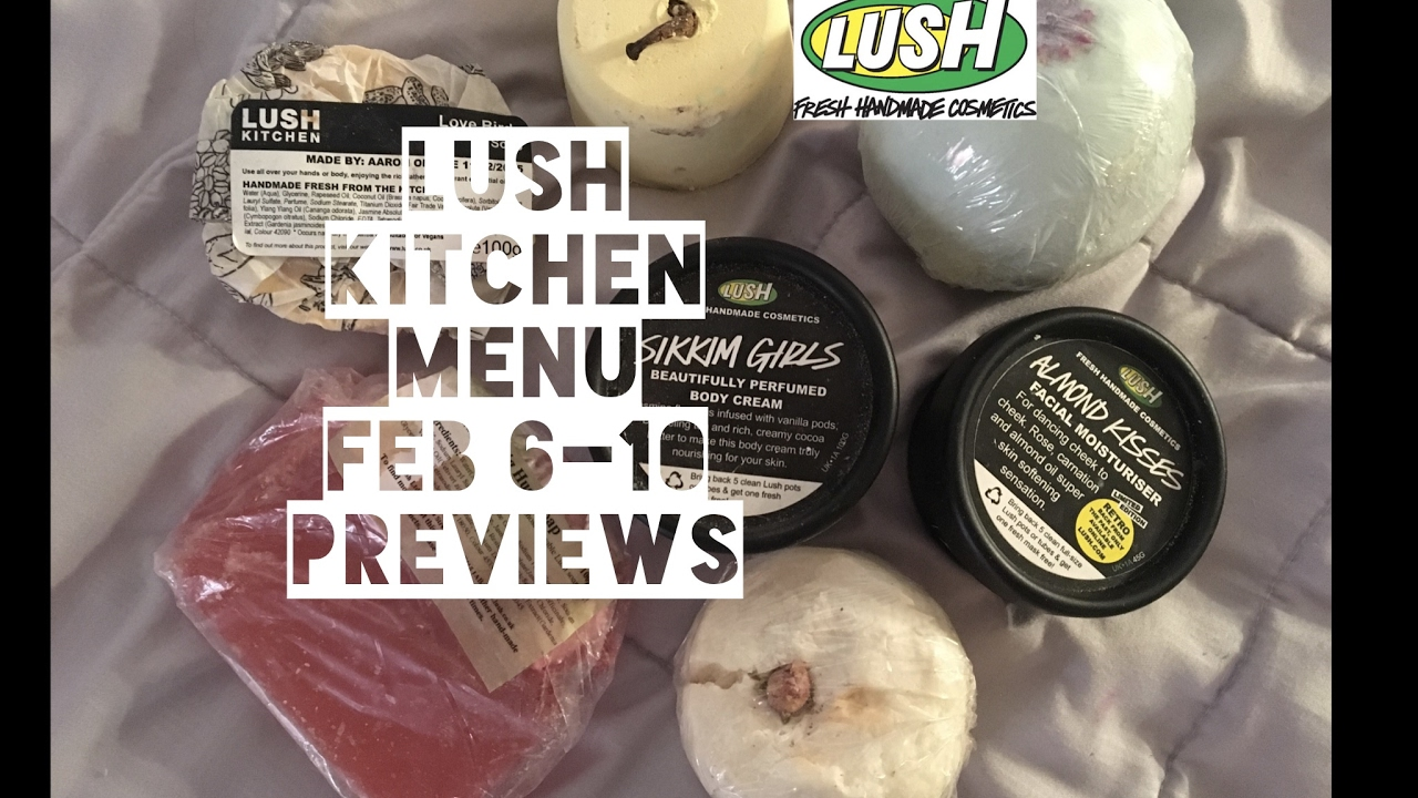 Lush Kitchen Menu Feb 6-10 Previews - YouTube