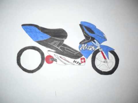 dessin moto - YouTube