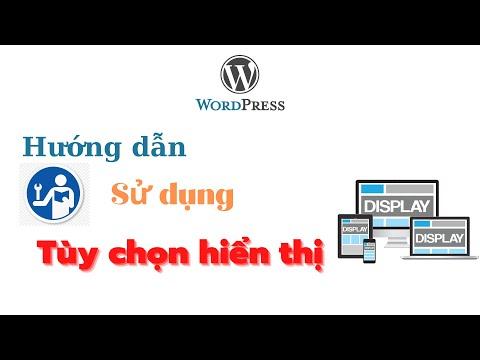 Hướng dẫn sử dụng Tùy chọn hiển thị trong Website WordPress