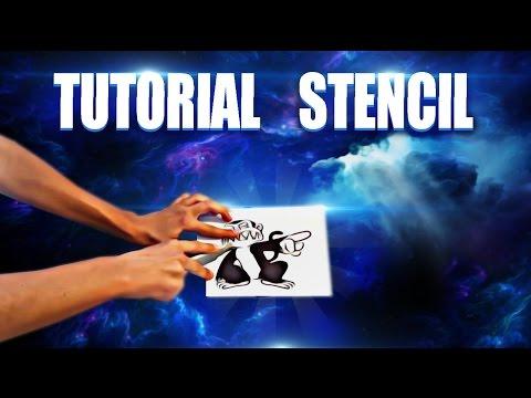 Como hacer un stencil o plantilla de graffiti | Sub ENG