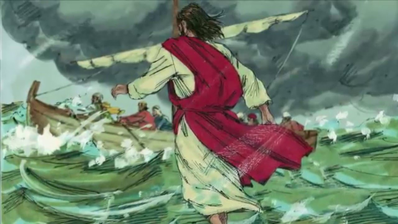 31 jesus walks on water open bible stories youtube