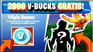 Fortnite Update: 2000 VBUCKS *GRATIS* + NUOVA SKIN KFC!