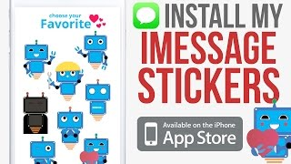 Get my Sticker Pack for iMessage! Robby - the Robot for iPhone, iPad, iPod IOS 10