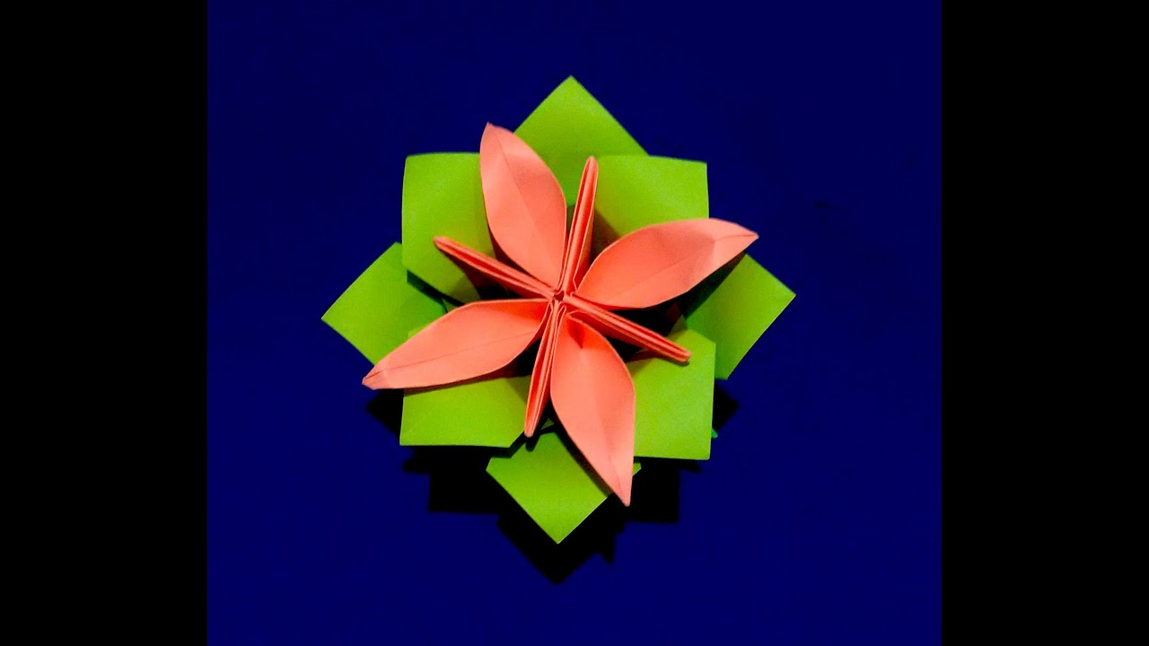 How to make origami paper flower base origami calyx christmas how to make origami paper flower base origami calyx christmas decoration youtube mightylinksfo