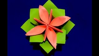 How To Make Origami Paper Flower Base. Origami Sepal.