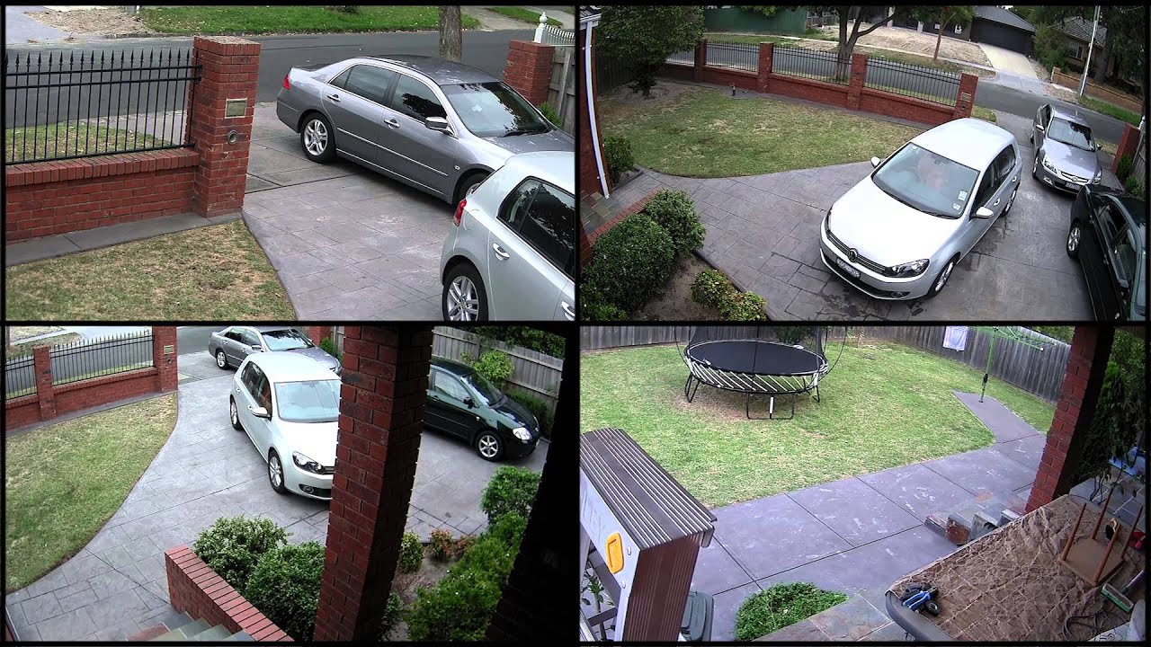 Residential Hdsdi Security Cameras Split Screen 1 Youtube