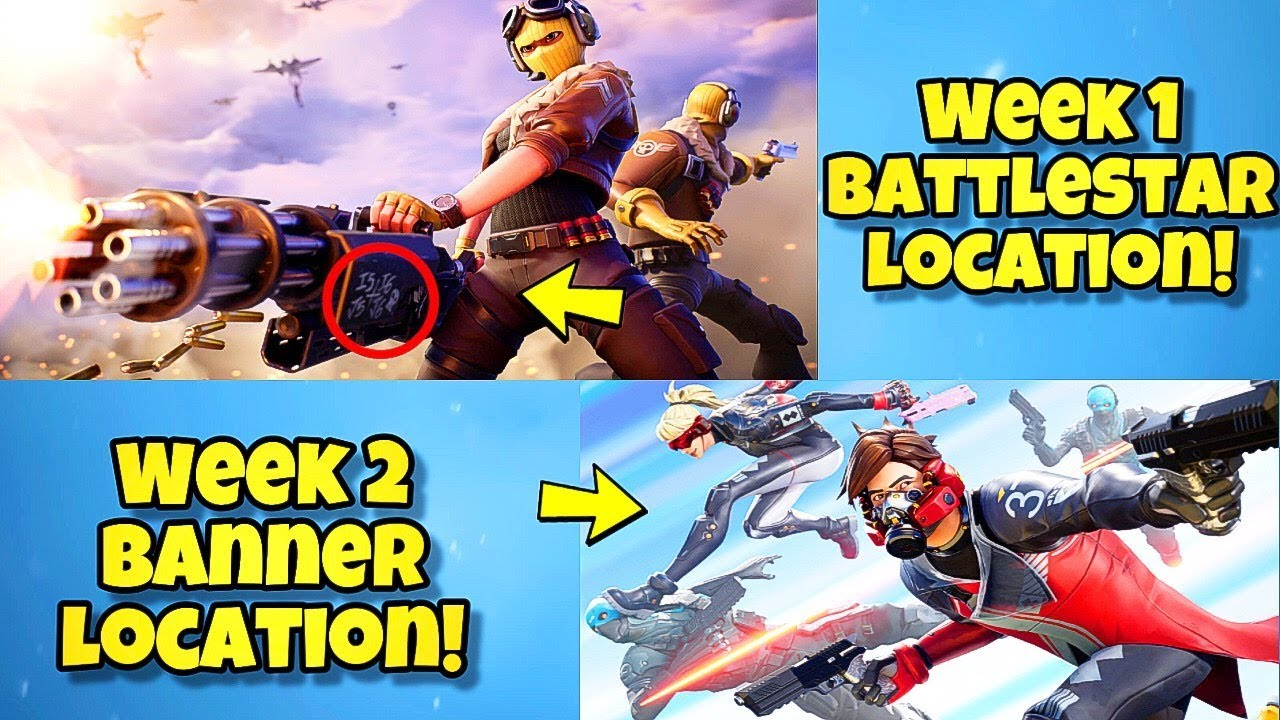 New Season 9 Week 1 2 Loading Screens In Fortnite Br Secret Battle Star Location Week 1 Season 9 Youtube