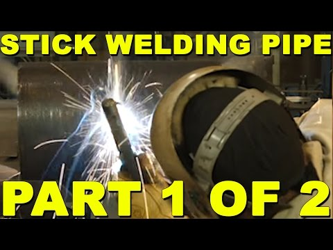 Stick Welding Pipe Uphill Part 1