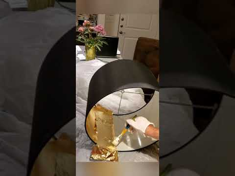 DIY Black Lamp Shade with Gold Lining