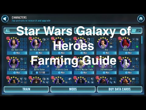Star Wars Galaxy Of Heroes: Character Farming Guide
