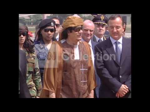 ITALY GADHAFI ARRIVAL