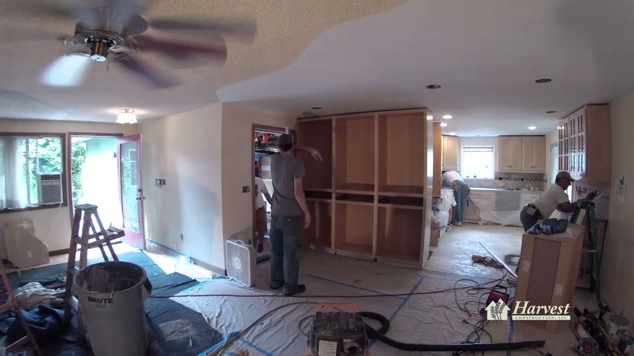 harvest construction 5 day kitchen remodel time lapse youtube