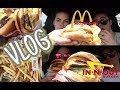 McDonald's Breakfast & In-N-Out Burger | TWO MUKBANGS ONE VLOG