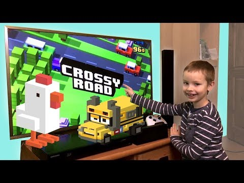 Pobijamy rekord w Crossy Road! - Gramy na telewizorze!