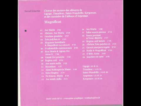 Gregorian Magnificat and others hymns to the glory of Our Lady Mary