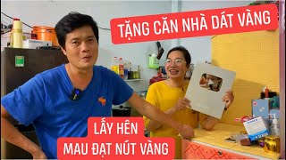 Sư phụ Khương Dừa đúng là đại gia, tặng luôn ngôi nhà dát vàng mừng đệ tử Trang LTP nhận NÚT BẠC ???