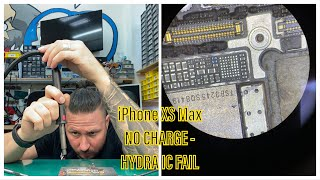 ADVANCED REPAIRS - iPHONE XS MAX NO CHARGE - HYDRA FAIL - ICC PRO  - BOARD REBALL - EASY WAY