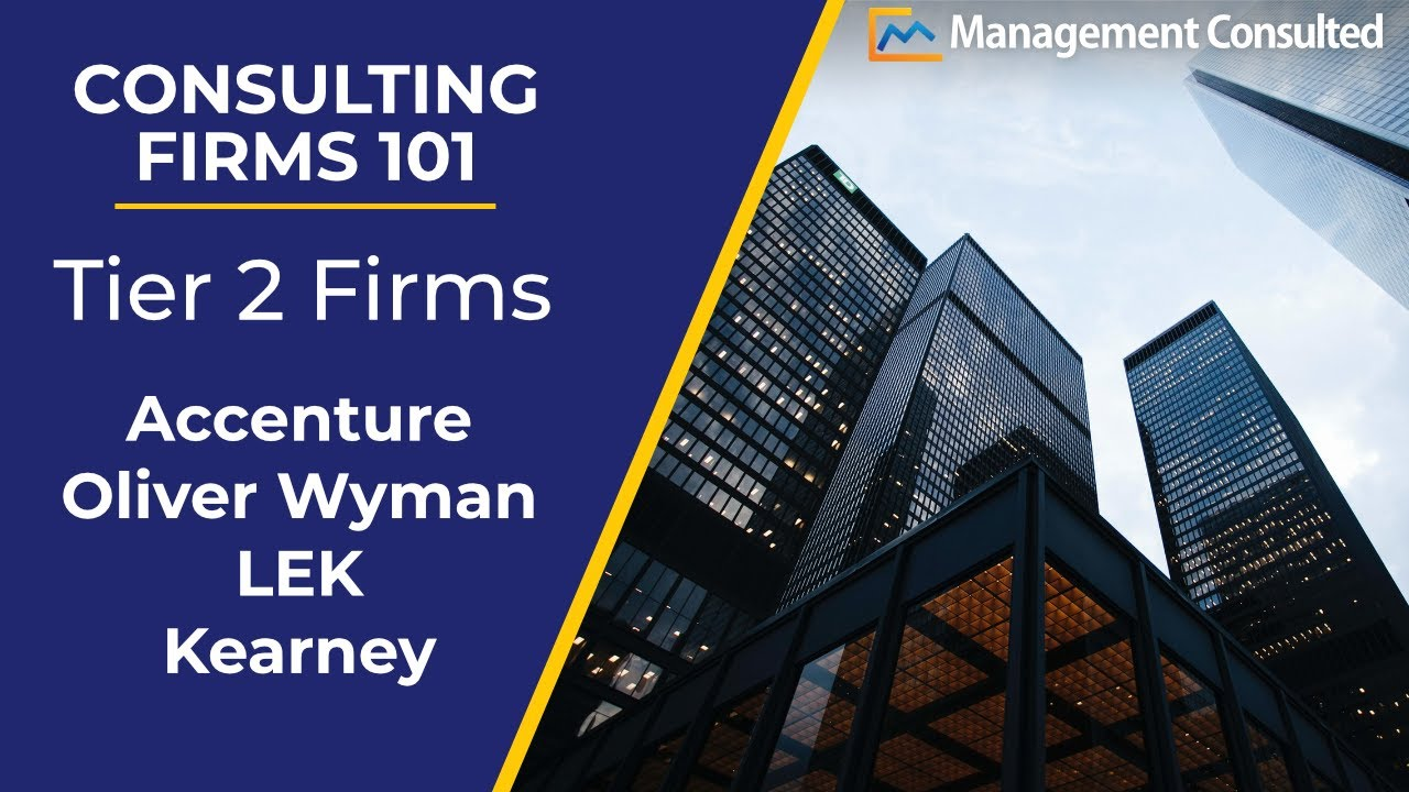 Consulting Firms 101: Tier 2 Firms (Accenture, Oliver Wyman, LEK etc )  (Video 3 of 3)