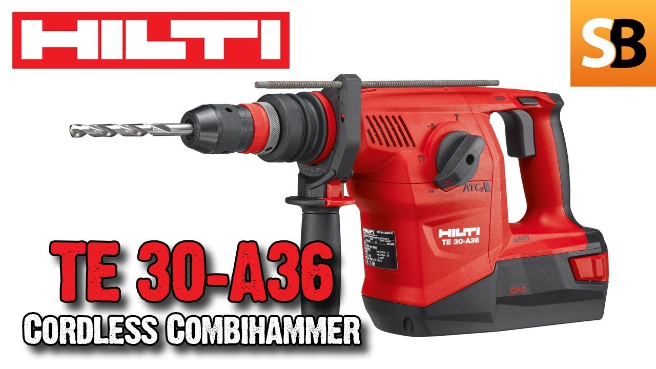 hilti te 30 a36 cordless combihammer youtube. Black Bedroom Furniture Sets. Home Design Ideas