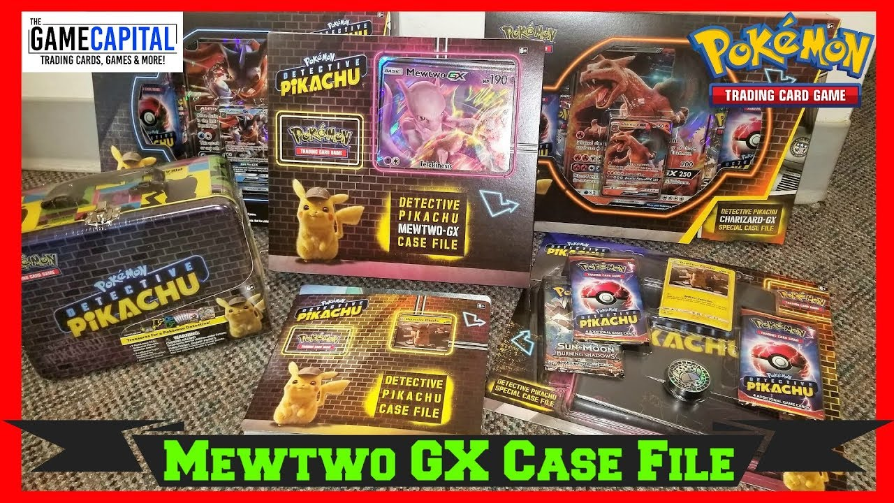 Detective Pikachu Cards Mewtwo Gx Case File Promo Box Opening