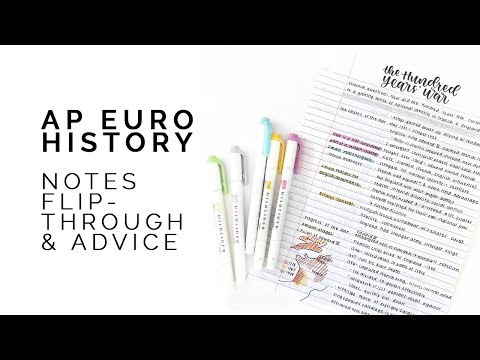 History Study Tips 🏰 Ap Euro Notebook Flip-through