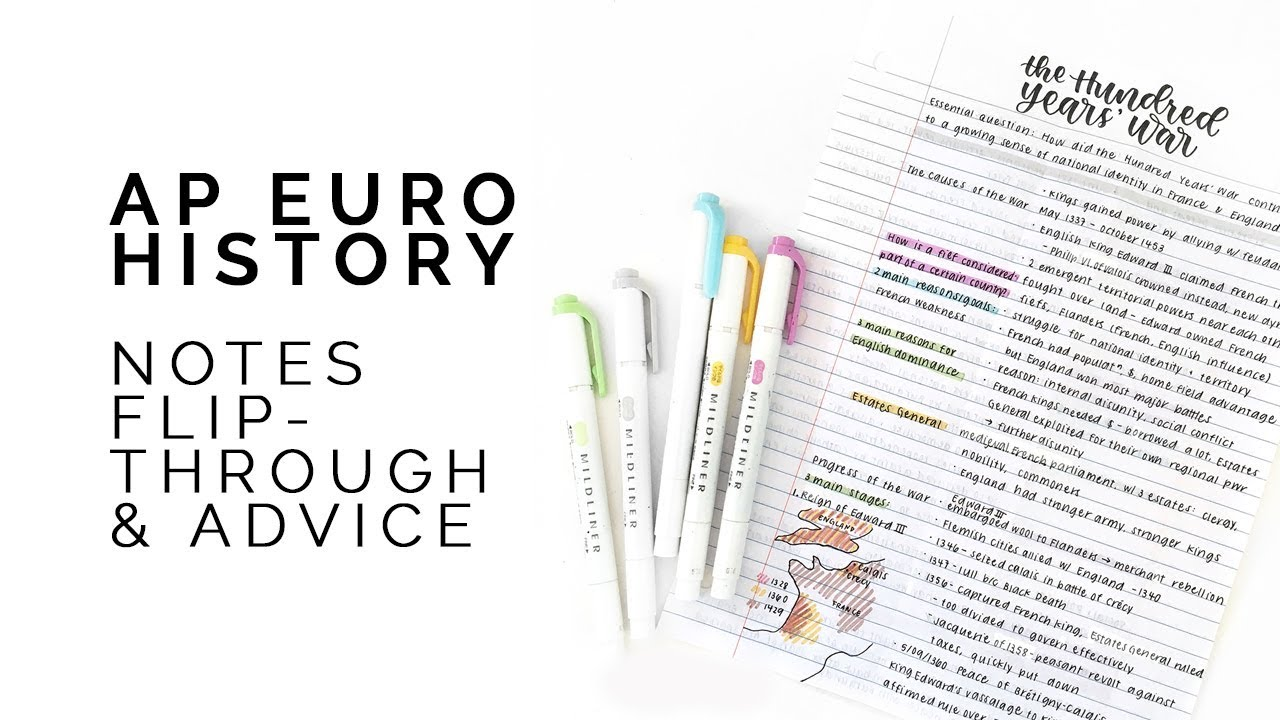 Ap European History Advice Notes Flipthrough Youtube