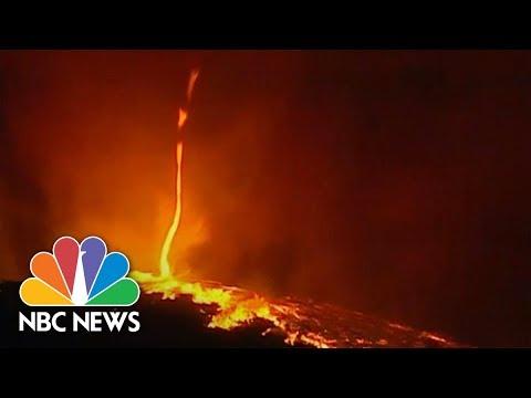 'Fire Devil' Caught On Camera As Blaze Scorches Portugal | NBC News