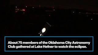 Oklahoma City stargazers catch images of lunar eclipse
