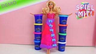 play doh plus deutsch - 8er Set inkl. Neonfarben UND Kleid aus Knete mit Barbie als Cinderella